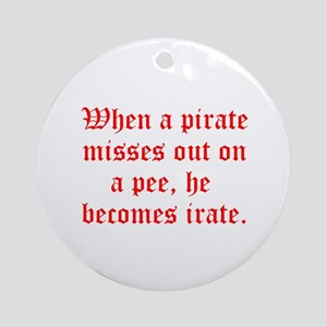 Irate Pirate Ornament (Round)