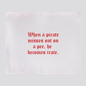 Irate Pirate Throw Blanket