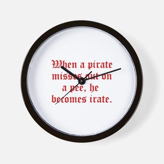 Irate Pirate Wall Clock