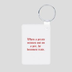 Irate Pirate Aluminum Photo Keychain