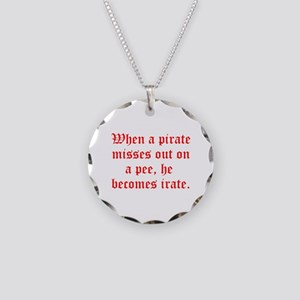 Irate Pirate Necklace Circle Charm