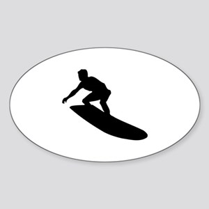 Surfing Sticker (Oval)