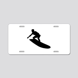 Surfing Aluminum License Plate