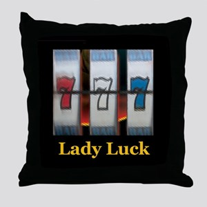 Lady Luck 777 Throw Pillow