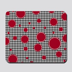 Houndstooth & Crimson Mousepad