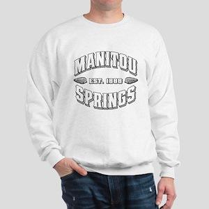 Manitou Springs Old Style White Sweatshirt