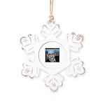 Lionel Nation Rustic Snowflake Ornament