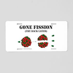 Gone Fission Aluminum License Plate