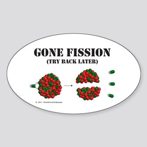 Gone Fission Sticker (Oval)