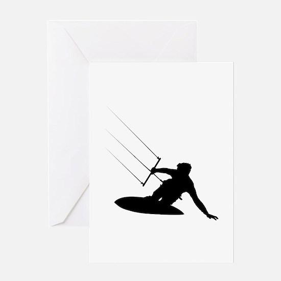 Kitesurfing Greeting Card