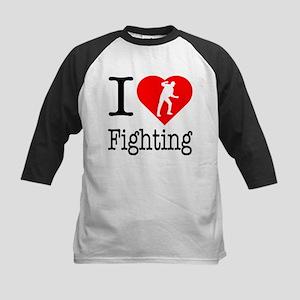 I Love Fighting Kids Baseball Jersey