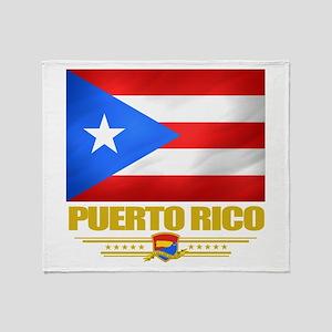 Flag of Puerto Rico Throw Blanket