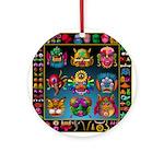 monster face maker Ornament (Round)