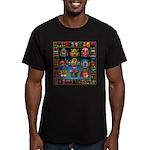monster face maker Men's Fitted T-Shirt (dark)