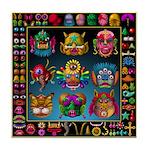 monster face maker Tile Coaster
