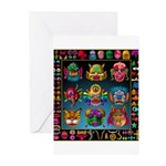 monster face maker Greeting Cards (Pk of 20)
