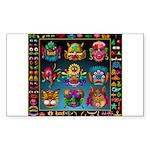monster face maker Sticker (Rectangle 50 pk)