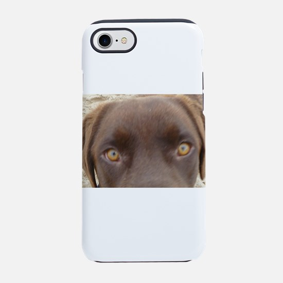 Chocolate Lab Gaze.jpg iPhone 7 Tough Case