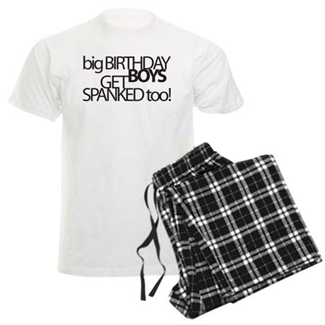 Happy Birthday Spank Men's Light Pajamas
