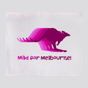 Mad for Melbourne Throw Blanket