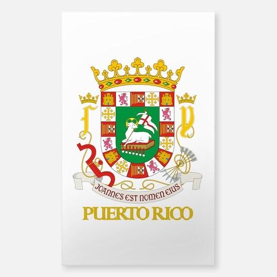 Puerto Rico COA Sticker (Rectangle)