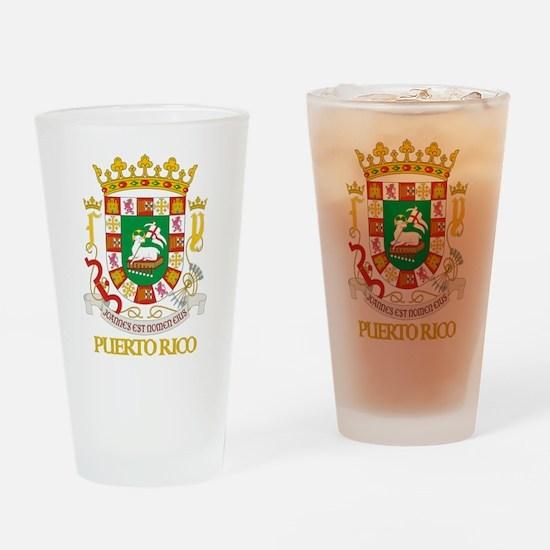 Puerto Rico COA Drinking Glass
