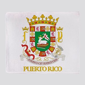 Puerto Rico COA Throw Blanket