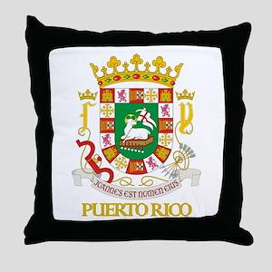 Puerto Rico COA Throw Pillow