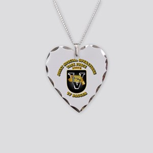 SOF - Task Force Dagger Necklace Heart Charm