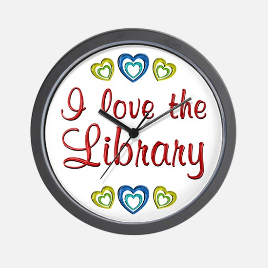 Love the Library Wall Clock
