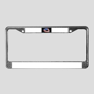 American Kiss License Plate Frame