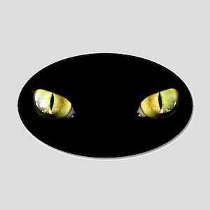 Cat Eyes 22x14 Oval Wall Peel
