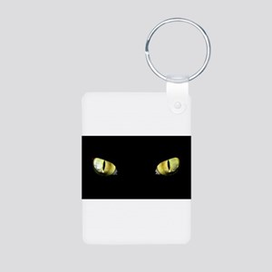 Cat Eyes Aluminum Photo Keychain