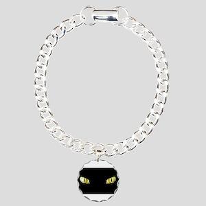 Cat Eyes Charm Bracelet, One Charm