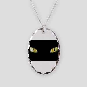 Cat Eyes Necklace Oval Charm