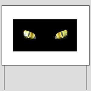Cat Eyes Yard Sign