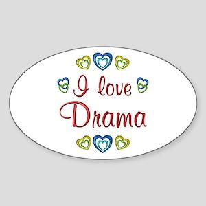 I Love Drama Sticker (Oval)