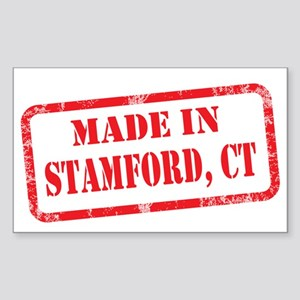 MADE IN STAMFORD Sticker (Rectangle)