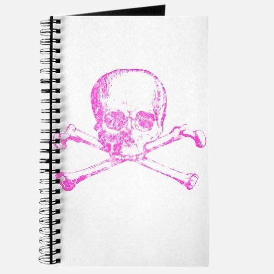 Pink Skull and Bones Journal