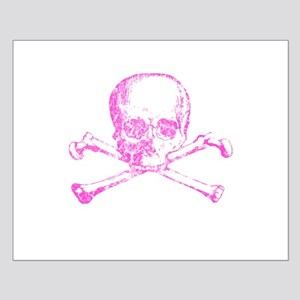 Pink Skull and Bones Small Poster
