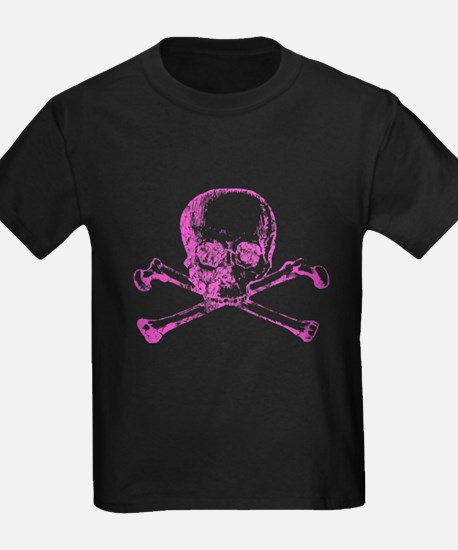 Pink Skull and Bones T
