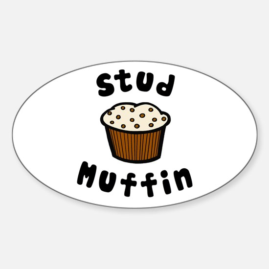'Stud Muffin' Sticker (Oval)