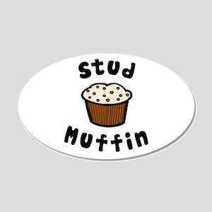 'Stud Muffin' 22x14 Oval Wall Peel