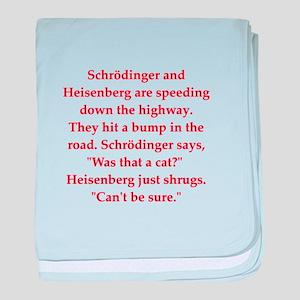 funny science joke baby blanket