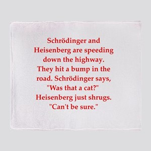 funny science joke Throw Blanket