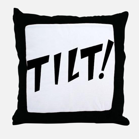 tilt! Throw Pillow