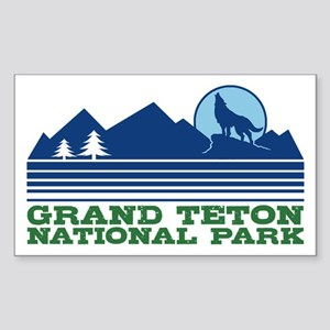 Grand Teton National Park Sticker (Rectangle)