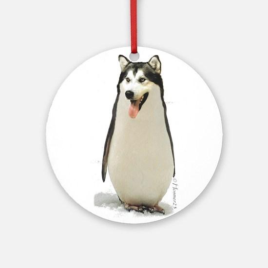 Malamute Penguin Ornament (Round)