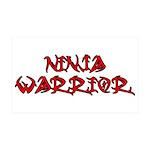 Ninja Warrior 35x21 Wall Decal