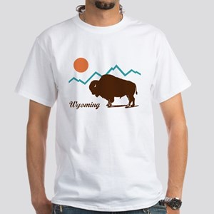 Wyoming White T-Shirt